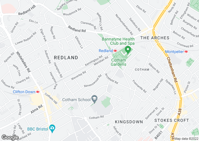 Map for Archfield Road, Cotham, BRISTOL, BS6 6BQ
