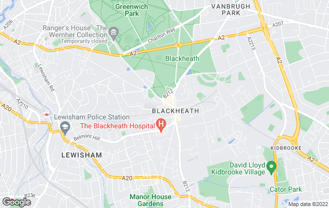 Map for Paragon, Blackheath