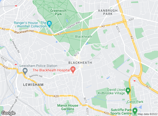Map for John Payne, Blackheath Village Office