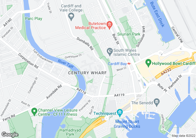 Map for Taliesin Court, Chandlery Way, Cardiff