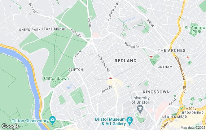 Map for Morgan Beddoe, Clifton