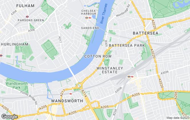 Map for HomeRenter, Battersea