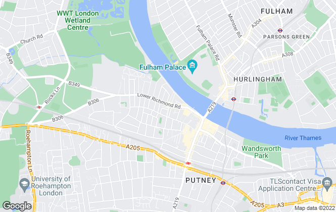 Map for Kinleigh Folkard & Hayward - Sales, West Putney