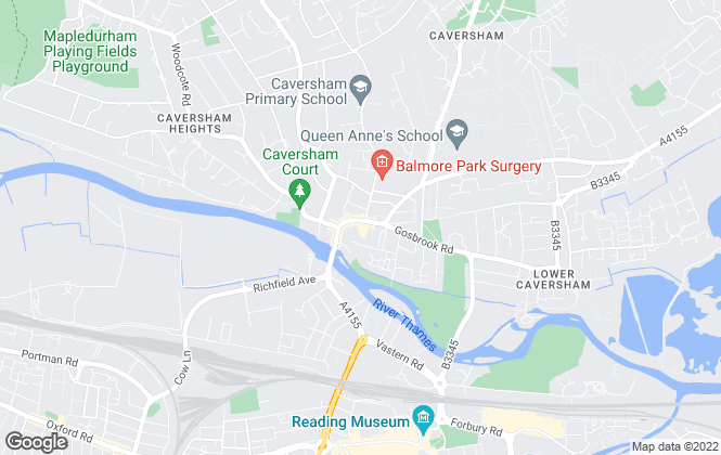 Map for Parkers Estate Agents , Caversham