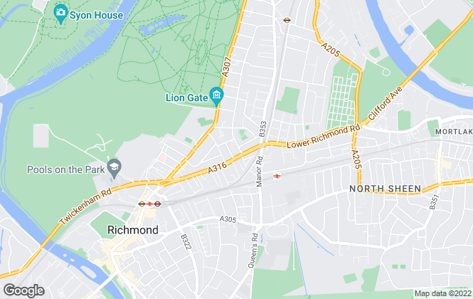 Map for Gibson Lettings, Richmond