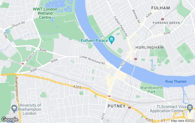 Map for Parkgate, Putney