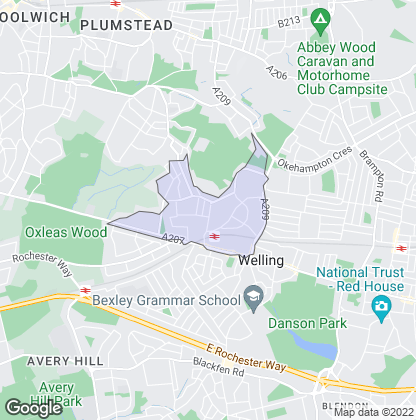 Map of property in Falconwood