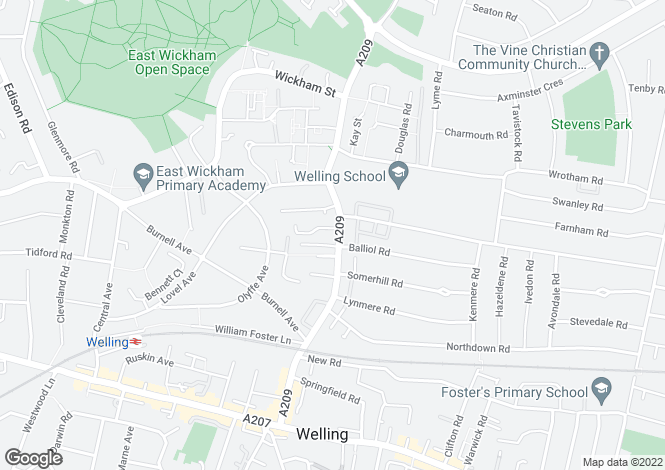 Map for Upper Wickham Lane, Welling, DA16