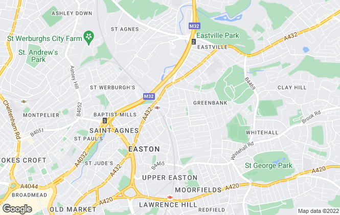 Map for Besley Hill, Easton
