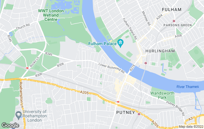 Map for James Anderson, West Putney