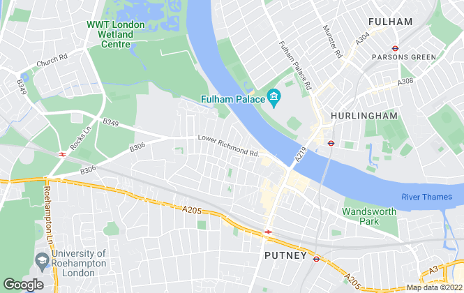 Map for James Anderson, Putney - Sales