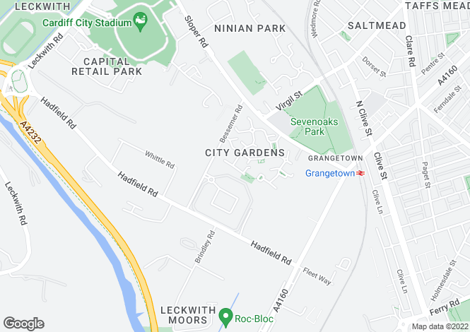 Map for Arundel Place, City Gardens, Grangetown, Cardiff, South Glamorgan