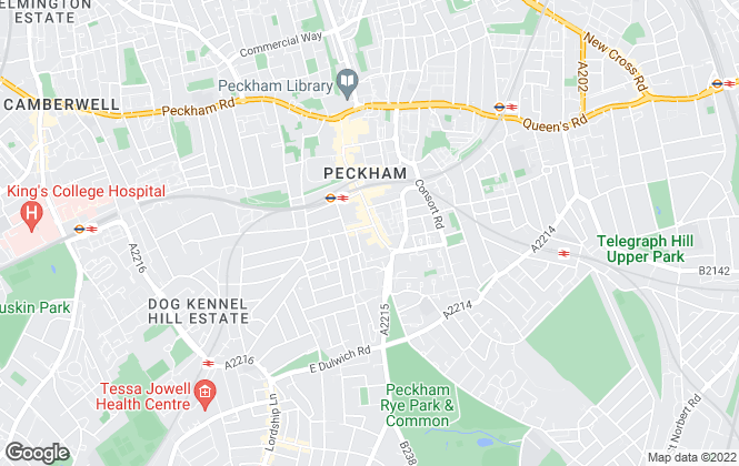 Map for Barnard Marcus, Peckham