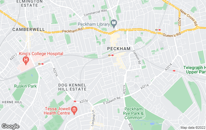 Map for Gareth James Property, Peckham Rye