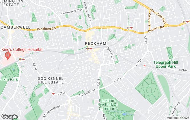 Map for Barnard Marcus Lettings, Peckham Lettings