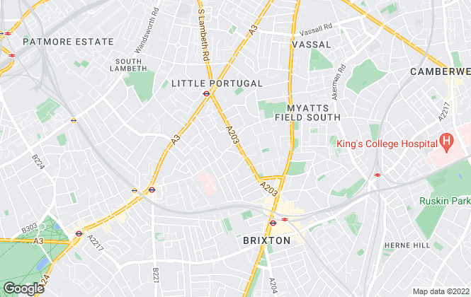 Map for Coopers Of Stockwell, Stockwell