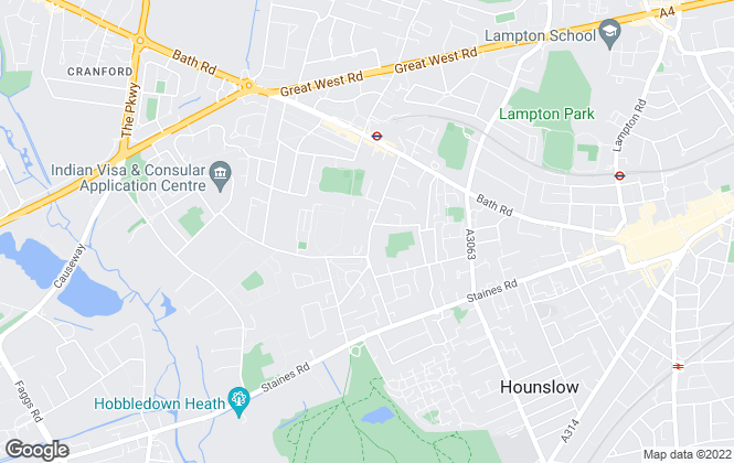 Map for Empire Estates, Hounslow