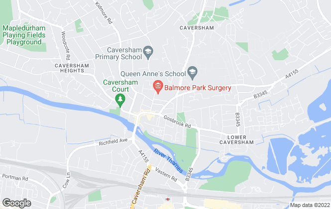 Map for Kings Lettings, Reading