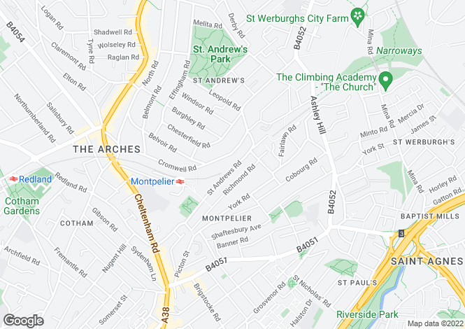 Map for St Andrews Road, ST ANDREWS