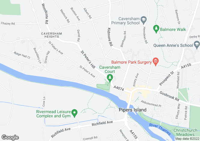 Map for Caversham, Reading