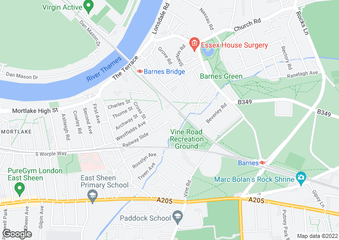 Map for Park View , Barnes, SW13