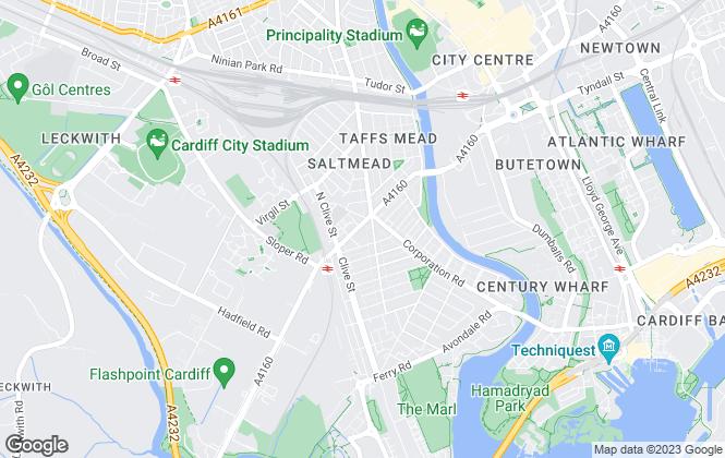 Map for Hafren Properties, Cardiff