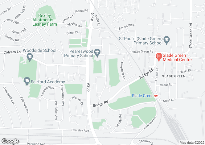Map for Newbery Road, Slade Green, Kent, DA8