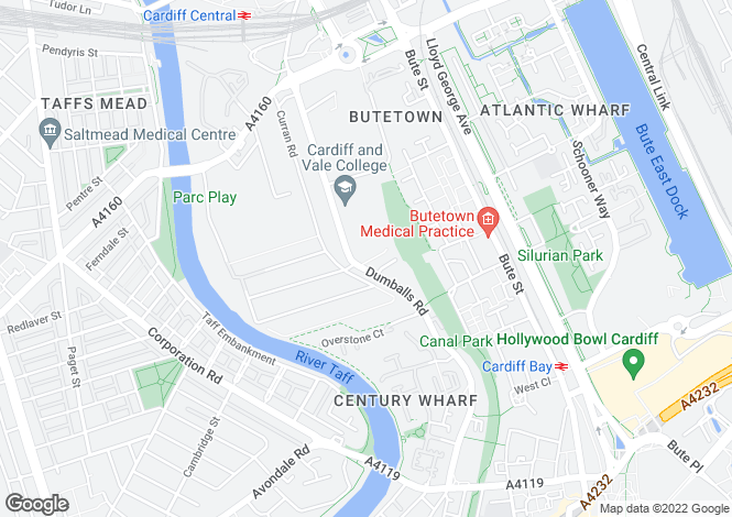 Map for Century Wharf, Cardiff Bay