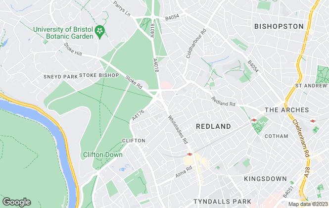Map for 2c Properties, Bristol