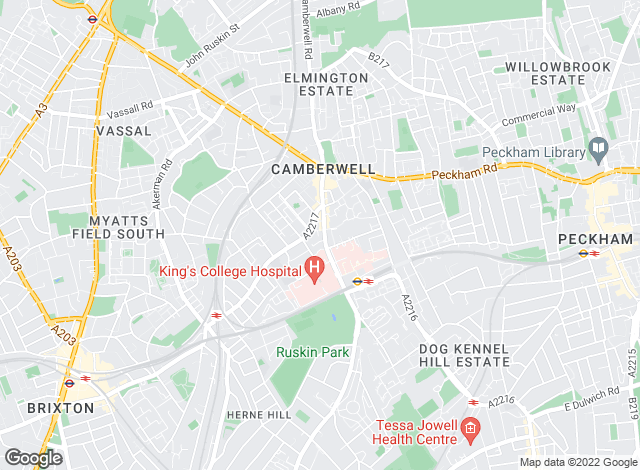 Map for Eaton Green Estate Agents, Camberwell