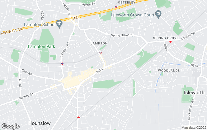 Map for Bassetts, Hounslow