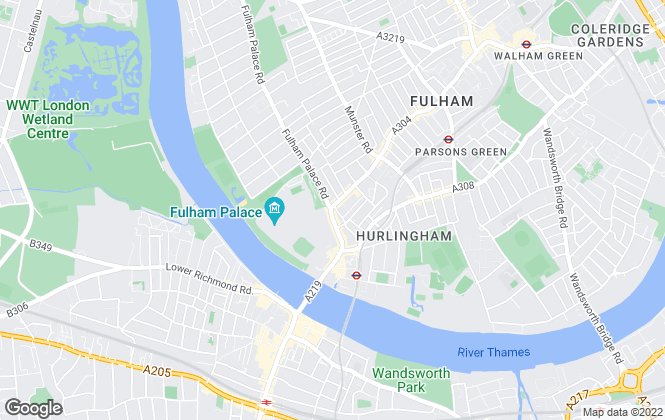 Map for Lockett Estates, Fulham Palace Road-Lettings