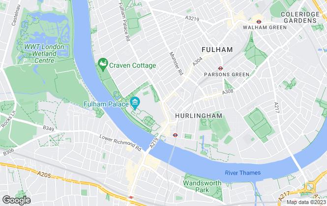 Map for Lockett Estates, Fulham Palace Road