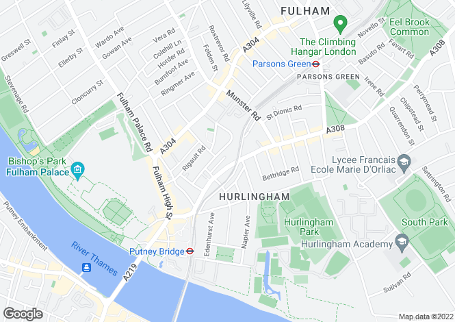 Map for Northumberland House, Fulham, London, SW6 4LZ