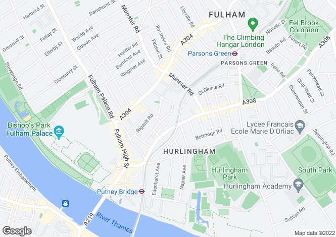 Map for Fulham Park Gardens, Fulham, London, SW6 4JX