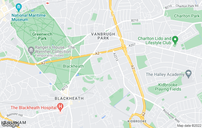 Map for London Key, Blackheath