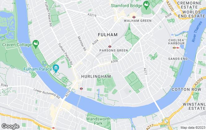 Map for John D Wood & Co, Fulham