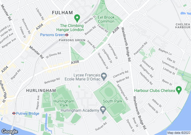 Map for Chiddingstone Street, Fulham, London, SW6 3TG