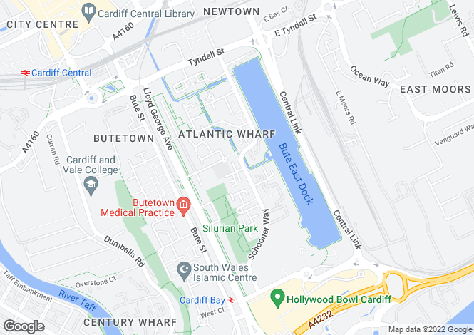 Map for Corvette Court, Schooner Way, Cardiff, South Glamorgan