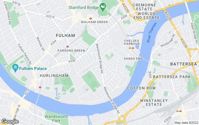 Map for James Pendleton, Fulham, Parsons Green & Chelsea