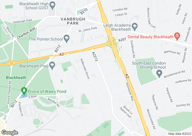 Map for Kidbrooke Park Road, Blackheath, SE3 0LW