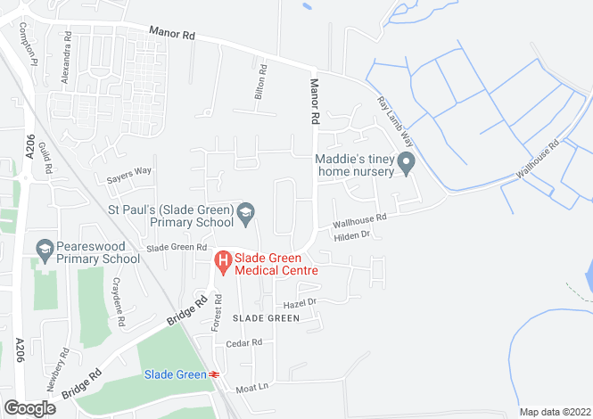 Map for Alderney Road, Slade Green, Kent, DA8