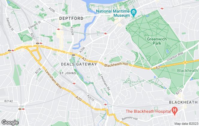 Map for Franklyn James, Blackheath