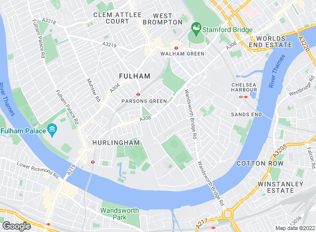 Map for Knight Frank - Lettings, Fulham