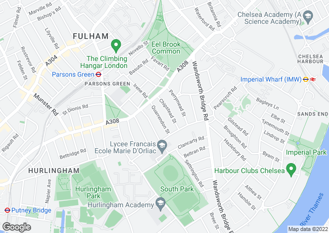 Map for Chipstead Street, Fulham, London, SW6 3SS