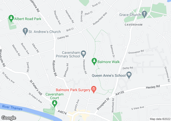 Map for Hemdean Road, Caversham, Reading, Berkshire, RG4