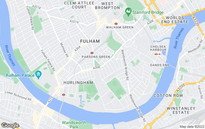 Map for Winkworth, Fulham