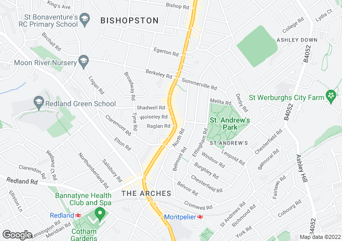 Map for Gloucester Road, Bishopston, Bristol