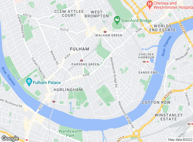 Map for Savills, Fulham