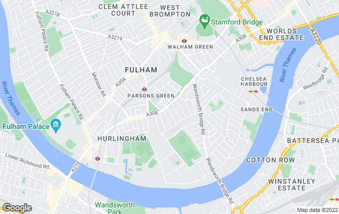 Map for Savills Lettings, Fulham